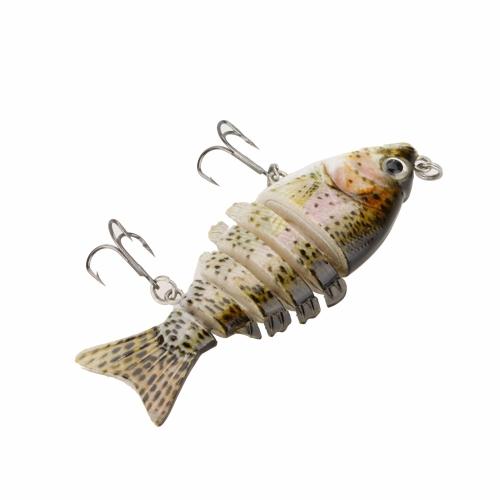 85mm 11g 3.3 6-segement Multi Jointed Fishing Life-like Hard Lure Minnow Swimbait Bait 2 Treble VMC HooksSports &amp; Outdoor<br>85mm 11g 3.3 6-segement Multi Jointed Fishing Life-like Hard Lure Minnow Swimbait Bait 2 Treble VMC Hooks<br>