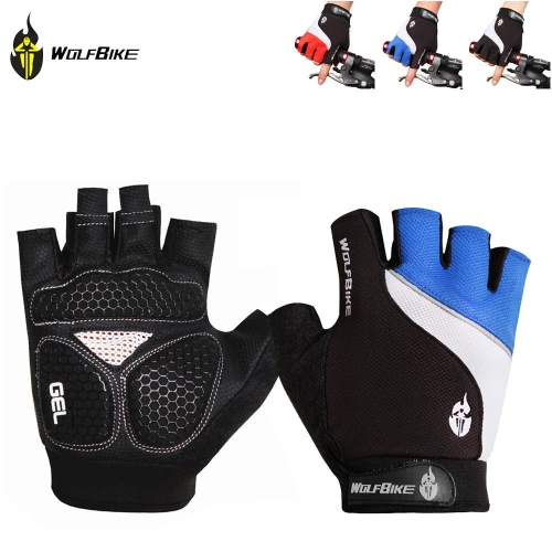 Wolfbike Mountain Bike Bicycle Cycling 3D GEL Breathable Anti-slip Anti-shock Half Finger GlovesSports &amp; Outdoor<br>Wolfbike Mountain Bike Bicycle Cycling 3D GEL Breathable Anti-slip Anti-shock Half Finger Gloves<br>