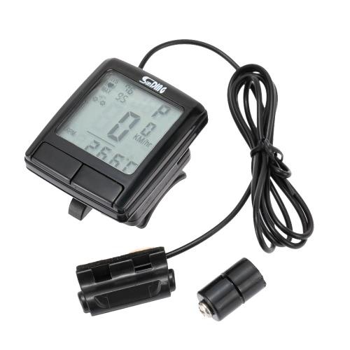 LCD ciclismo Computer contachilometri tachimetro bici con fascia toracica cardiofrequenzimetro Wireless Monitor Tester