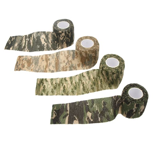 1 Roll Reusable Outdoor Military Camouflage Hunting Camping Cycling Wrap Elastic Stealth Tape 5CMx4.5MSports &amp; Outdoor<br>1 Roll Reusable Outdoor Military Camouflage Hunting Camping Cycling Wrap Elastic Stealth Tape 5CMx4.5M<br>