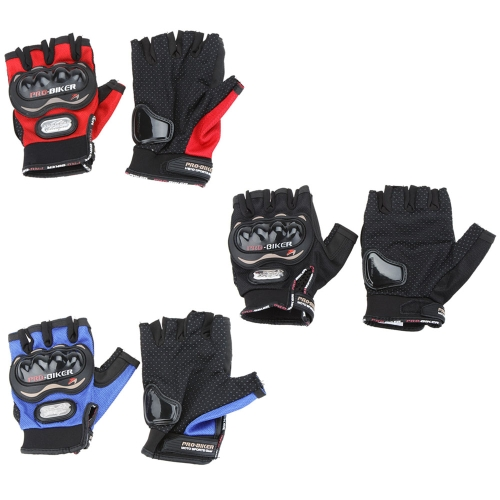 Men Motorcycle Bike Bicycle Half Finger Anti Slip 3D Hard Shell Protective Cycling Riding Racing GlovesSports &amp; Outdoor<br>Men Motorcycle Bike Bicycle Half Finger Anti Slip 3D Hard Shell Protective Cycling Riding Racing Gloves<br>