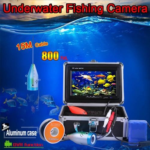 7 TFT LCD Monitor 800TVL Portable Night Vision Fish Finder DVR Video Underwater Fishing Camera 15M CableSports &amp; Outdoor<br>7 TFT LCD Monitor 800TVL Portable Night Vision Fish Finder DVR Video Underwater Fishing Camera 15M Cable<br>
