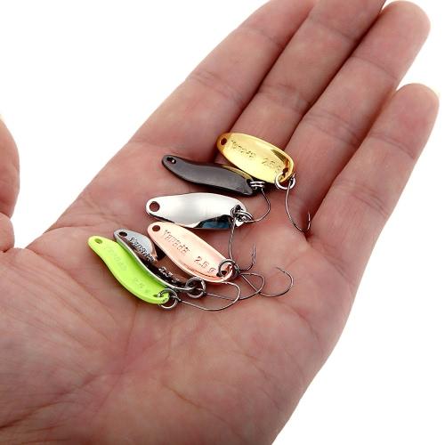 YAPADA Spoon 006 6Pcs 2.5g 2.8cm Zinc Alloy Hard Fishing Lures Spoon Sequin Paillette Baits with Single BKK Hook 7 ColorsSports &amp; Outdoor<br>YAPADA Spoon 006 6Pcs 2.5g 2.8cm Zinc Alloy Hard Fishing Lures Spoon Sequin Paillette Baits with Single BKK Hook 7 Colors<br>
