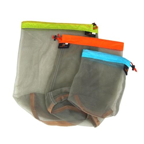 Ultralight Drawstring Mesh Stuff Sack Storage Bag for Tavelling Camping Sports Large/Medium/Small SizeSports &amp; Outdoor<br>Ultralight Drawstring Mesh Stuff Sack Storage Bag for Tavelling Camping Sports Large/Medium/Small Size<br>