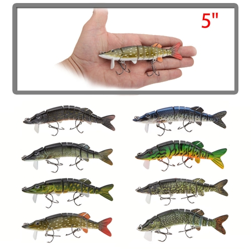 Lixada 5 / 12.5cm 20g Lifelike Multi-jointed 9-segement Pike Muskie Fishing Lure with Mouth Swimbait Crankbait Hard Bait Fish TreSports &amp; Outdoor<br>Lixada 5 / 12.5cm 20g Lifelike Multi-jointed 9-segement Pike Muskie Fishing Lure with Mouth Swimbait Crankbait Hard Bait Fish Tre<br>