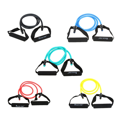 Natural Rubber Latex Fitness Resistance Band Resistance Rope Exerciese Tube Elastic Exercise Band for Yoga Pilates WorkoutSports &amp; Outdoor<br>Natural Rubber Latex Fitness Resistance Band Resistance Rope Exerciese Tube Elastic Exercise Band for Yoga Pilates Workout<br>