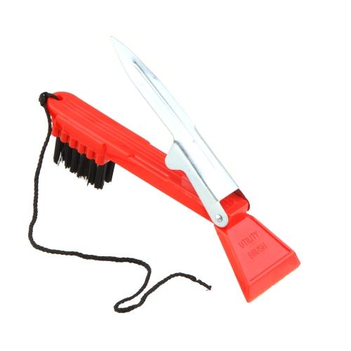 متعددة الأغراض الأحمر نادي الغولف تنظيف فرشاة الأحذية الأخاديد الأنظف