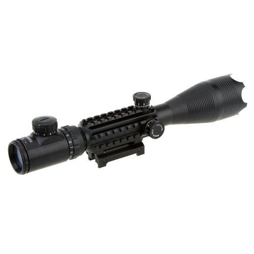 4-16x50 Red Green Illuminated Reticle Riflescope with 22MM Rail Mounts for HuntingSports &amp; Outdoor<br>4-16x50 Red Green Illuminated Reticle Riflescope with 22MM Rail Mounts for Hunting<br>