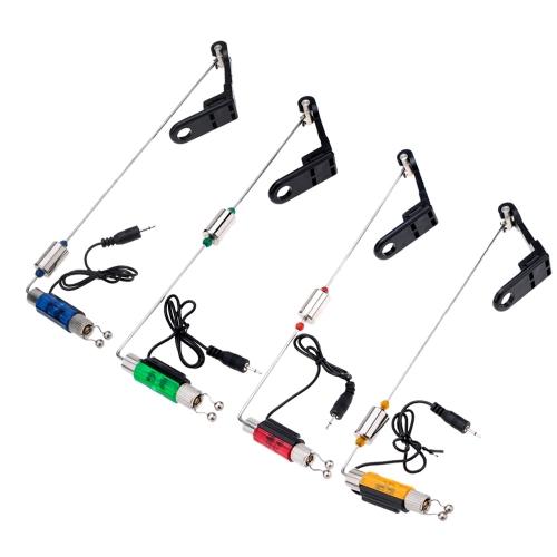 Iron Fishing Bite Alarm Hanger Swinger LED Illuminated IndicatorSports &amp; Outdoor<br>Iron Fishing Bite Alarm Hanger Swinger LED Illuminated Indicator<br>