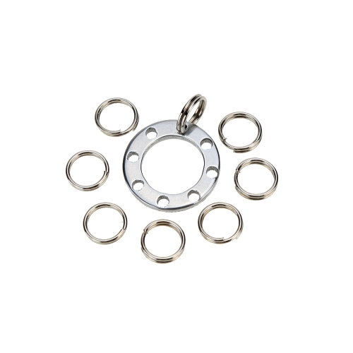 1 Pcs 8 Hole EDC Keychain Outdoor Multi-purpose Keychain with 8 Mini Steel RingsSports &amp; Outdoor<br>1 Pcs 8 Hole EDC Keychain Outdoor Multi-purpose Keychain with 8 Mini Steel Rings<br>