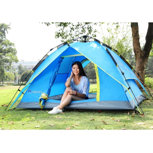 3-4 People Double Layers Waterproof Breathable Automatic Tent with BagSports &amp; Outdoor<br>3-4 People Double Layers Waterproof Breathable Automatic Tent with Bag<br>