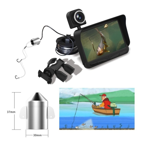 4.3 HD TFT LCD Monitor Screen Night Vision Fish Finder DVR Video 6 Infrared LED Underwater Fishing Camera + Overwater Camera WideSports &amp; Outdoor<br>4.3 HD TFT LCD Monitor Screen Night Vision Fish Finder DVR Video 6 Infrared LED Underwater Fishing Camera + Overwater Camera Wide<br>