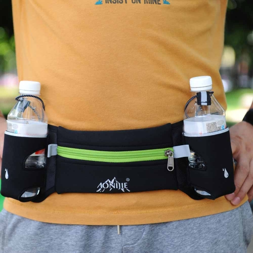 Running Sports Waist Pack Unisex Lightweight Waist Pack with Dual Bottle HolderSports &amp; Outdoor<br>Running Sports Waist Pack Unisex Lightweight Waist Pack with Dual Bottle Holder<br>