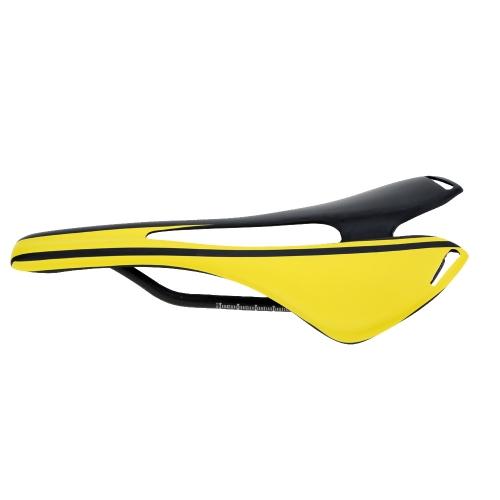Full Carbon Fiber Super Lightweight MTB Mountain Bike Road Bike Cycling Cushion Hollow Saddle Matte Bicycle Seat 27 * 14cm 114g
