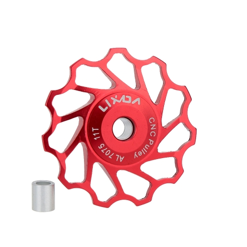 Lixada MTB Mountain Bike Road Bicycle Rear Derailleur 7075 Aluminum Alloy 11T Guide Roller Idler Pulley Jockey Wheel Part AccessorSports &amp; Outdoor<br>Lixada MTB Mountain Bike Road Bicycle Rear Derailleur 7075 Aluminum Alloy 11T Guide Roller Idler Pulley Jockey Wheel Part Accessor<br>