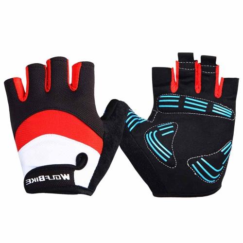 Wolfbike Men Women Bicycle Cycling Half Finger GlovesSports &amp; Outdoor<br>Wolfbike Men Women Bicycle Cycling Half Finger Gloves<br>
