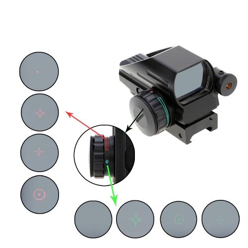 1 x 33 緑レッドドット光景スコープ照らされた戦術レーザー ライフル銃望遠照準器狩猟光学レフレックス レンズ テール スイッチで