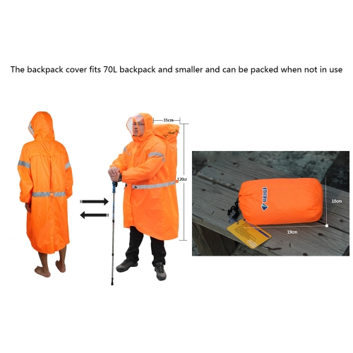BlueField Backpack Cover One-piece Raincoat Poncho Rain Cape Outdoor Hiking Camping Unisex Rain GearSports &amp; Outdoor<br>BlueField Backpack Cover One-piece Raincoat Poncho Rain Cape Outdoor Hiking Camping Unisex Rain Gear<br>
