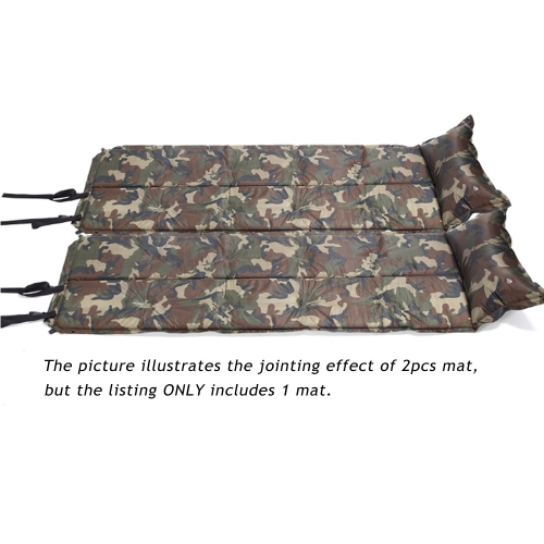 185 * 60 * 2.5cm Camouflage Automatic Inflatable Self-Inflating Dampproof Sleeping Pad Tent Air Mat Mattress with Pillow for OutdoSports &amp; Outdoor<br>185 * 60 * 2.5cm Camouflage Automatic Inflatable Self-Inflating Dampproof Sleeping Pad Tent Air Mat Mattress with Pillow for Outdo<br>