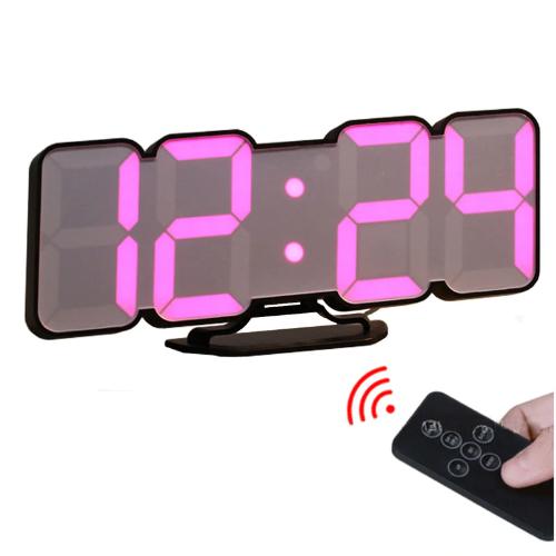 3DワイヤレスリモートデジタルRGB LED目覚まし時計