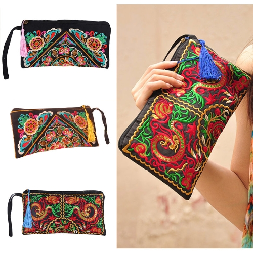 New Fashion Women Clutch Bag Embroidery Contrast Wrist Strap Elegant Mobile Phone BagApparel &amp; Jewelry<br>New Fashion Women Clutch Bag Embroidery Contrast Wrist Strap Elegant Mobile Phone Bag<br>