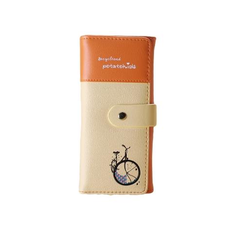 New Fashion Women Wallet PU Leather Bike Letter Print Bi-Fold Press Stud Closure Fresh PurseApparel &amp; Jewelry<br>New Fashion Women Wallet PU Leather Bike Letter Print Bi-Fold Press Stud Closure Fresh Purse<br>