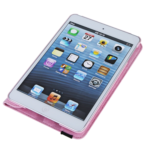 360 Degrees Rotating Protective Leather Case Skin Cover Stand for Apple iPad Mini Pink with Stylus Pen &amp; Screen Protector &amp; CleaniCellphone &amp; Accessories<br>360 Degrees Rotating Protective Leather Case Skin Cover Stand for Apple iPad Mini Pink with Stylus Pen &amp; Screen Protector &amp; Cleani<br>