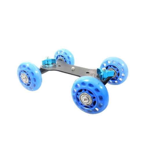 Table Top Dolly Mini Car Skater Track Slider Super Mute for DSLR Camera Camcorder BlueCameras &amp; Photo Accessories<br>Table Top Dolly Mini Car Skater Track Slider Super Mute for DSLR Camera Camcorder Blue<br>