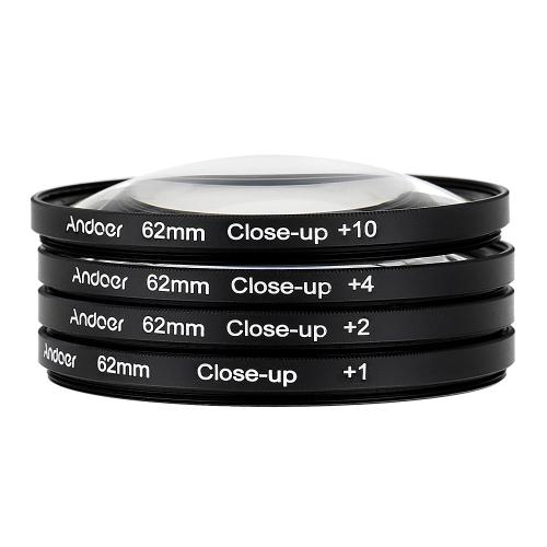Набор Andoer 62 мм макро макро фильтров + 1 + 2 + 4 + 10 с сумкой для Sony зеркалок Nikon Canon Sigma