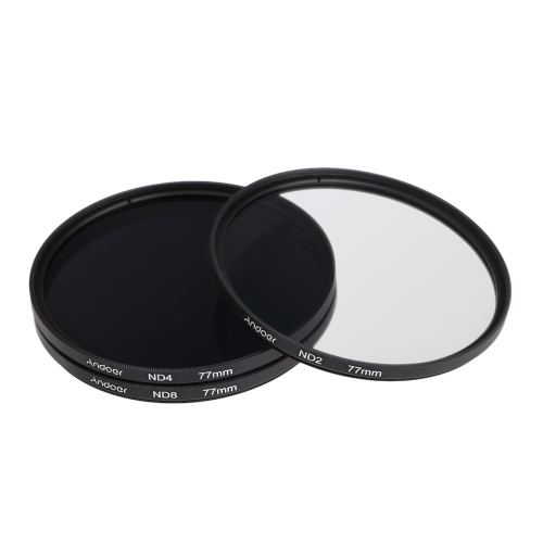 Andoer 77mm Fader ND Filter Kit Neutral Density Photography Filter Set (ND2 ND4 ND8) for Nikon Canon Sony Pentax DSLRsCameras &amp; Photo Accessories<br>Andoer 77mm Fader ND Filter Kit Neutral Density Photography Filter Set (ND2 ND4 ND8) for Nikon Canon Sony Pentax DSLRs<br>