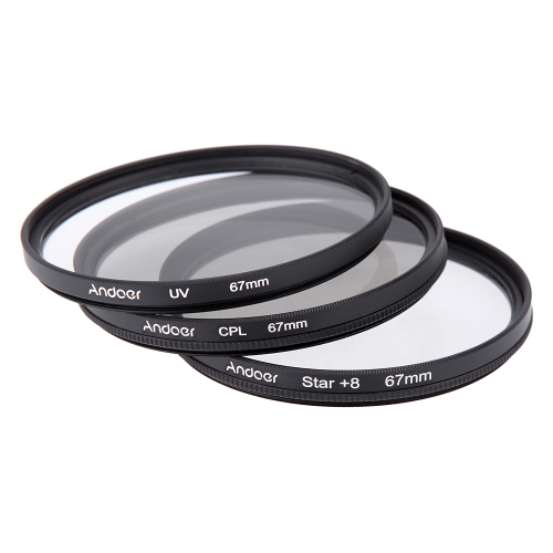 Andoer 67mm Filter Set UV + CPL + Star 8-Point Filter Kit with Case for Canon Nikon Sony DSLR Camera LensCameras &amp; Photo Accessories<br>Andoer 67mm Filter Set UV + CPL + Star 8-Point Filter Kit with Case for Canon Nikon Sony DSLR Camera Lens<br>