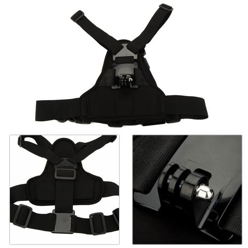 Andoer Elástico Ajustable para el Cuerpo Cinturón Banda para el Pecho Accesorio para Cámara Deportiva GoPro Hero 4/3+/3/2/1 SJCAM