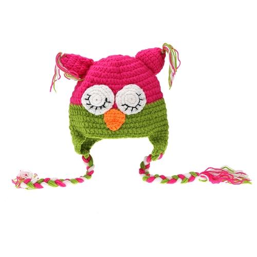 Bébé infantile oiseaux Parrot Bernat Chapeau avec Long Fringe Décoration Crochet Costume Knitting adorable doux Vêtements photo photographie Props pour nouveau-nés