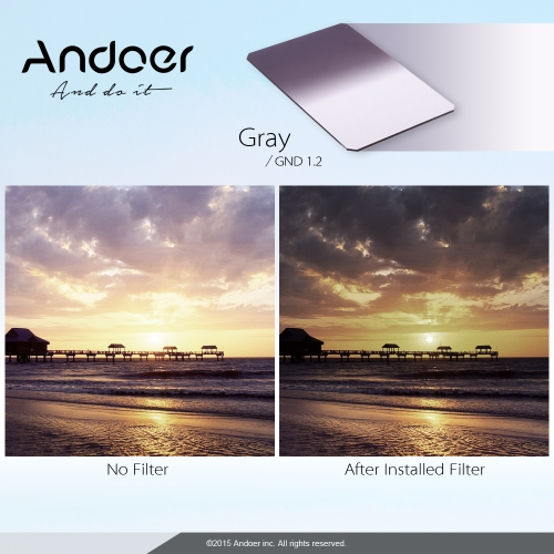 Andoer Z Series 100x150mm Soft Square Filter Graduated Neutral Density GND16 Grad ND 1.2 for Lee and Cokin Z-Pro HoldersCameras &amp; Photo Accessories<br>Andoer Z Series 100x150mm Soft Square Filter Graduated Neutral Density GND16 Grad ND 1.2 for Lee and Cokin Z-Pro Holders<br>