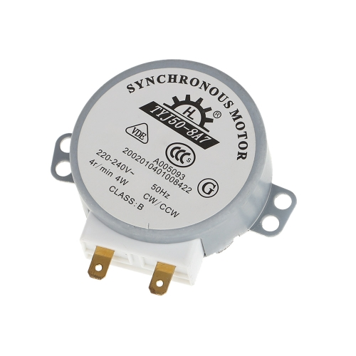 Turntable Turn Table Synchronous Motor for Microwave Oven AC 220-240V 4WTest Equipment &amp; Tools<br>Turntable Turn Table Synchronous Motor for Microwave Oven AC 220-240V 4W<br>