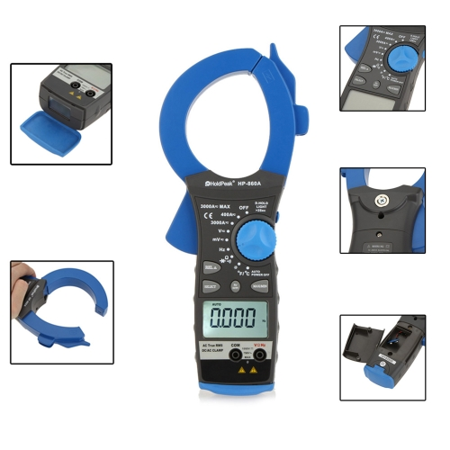 HoldPeak HP-860A 3000A Ture RMS Dual Display Clamp Meter AC/DC Voltage Current Resistance Frequency Temperature MulitimeterTest Equipment &amp; Tools<br>HoldPeak HP-860A 3000A Ture RMS Dual Display Clamp Meter AC/DC Voltage Current Resistance Frequency Temperature Mulitimeter<br>