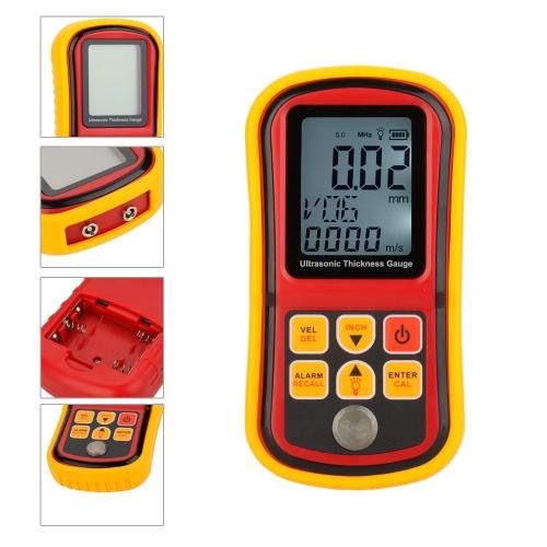 GM130 Digital Ultrasonic Thickness Gauge Tester Depth Gauge + Sound Velocity Meter with LCD Backlight Range 1.00~300mmTest Equipment &amp; Tools<br>GM130 Digital Ultrasonic Thickness Gauge Tester Depth Gauge + Sound Velocity Meter with LCD Backlight Range 1.00~300mm<br>