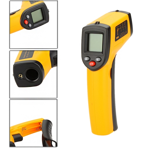 GM320 Non-Contact 12:1 Digital Infrared IR Thermometer Laser Temperature Gun Tester Range -50~330�� (-58~626�H) with LCD Backlight