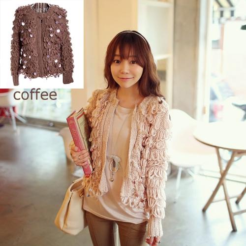 Women Loose Retro Sequin Cardigan SweaterApparel &amp; Jewelry<br>Women Loose Retro Sequin Cardigan Sweater<br>