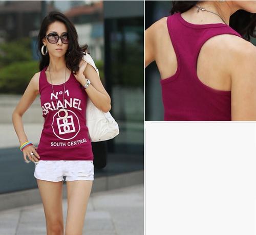 Summer Women Girl Tank Tops Racerback Sleeveless T-Shirt Letter Print Vest Camisole Waistcoat BurgundyApparel &amp; Jewelry<br>Summer Women Girl Tank Tops Racerback Sleeveless T-Shirt Letter Print Vest Camisole Waistcoat Burgundy<br>