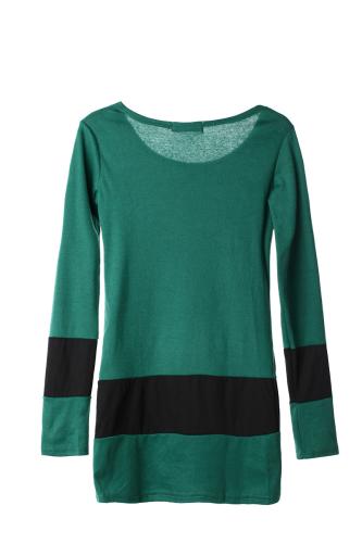 New Casual Women Dress Long Sleeve Double Breasted Stripe One-piece Mini Dress Dark GreenApparel &amp; Jewelry<br>New Casual Women Dress Long Sleeve Double Breasted Stripe One-piece Mini Dress Dark Green<br>