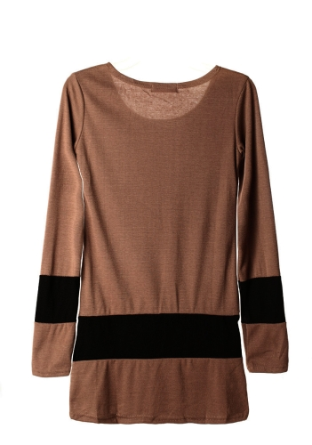 New Casual Women Dress Long Sleeve Double Breasted Stripe One-piece Mini Dress CoffeeApparel &amp; Jewelry<br>New Casual Women Dress Long Sleeve Double Breasted Stripe One-piece Mini Dress Coffee<br>