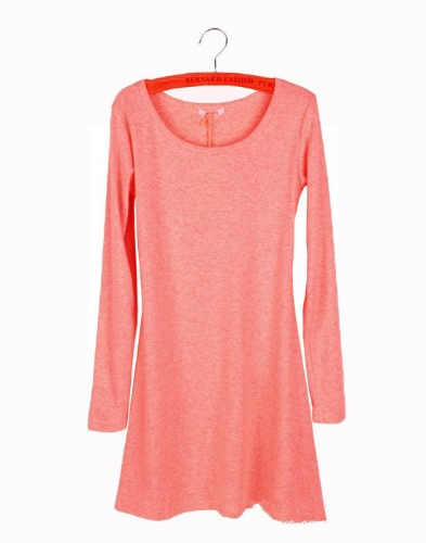 New Women Dress Long Sleeve Grinding Wool Soft Basic One-piece Dress Watermelon RedApparel &amp; Jewelry<br>New Women Dress Long Sleeve Grinding Wool Soft Basic One-piece Dress Watermelon Red<br>