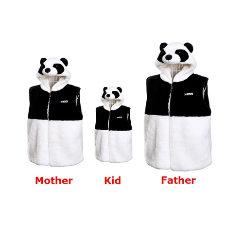 Hooded Panda Vest Cute Thick Plush TopsApparel &amp; Jewelry<br>Hooded Panda Vest Cute Thick Plush Tops<br>