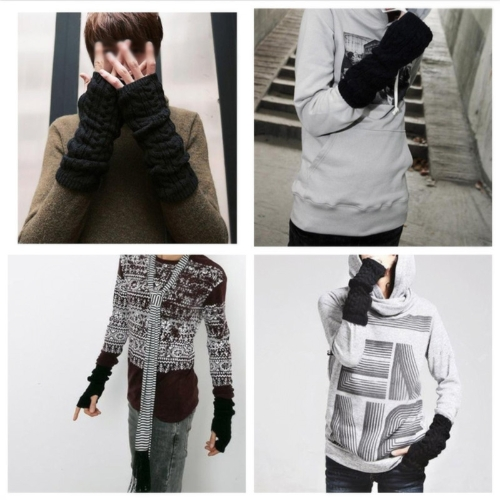 Fashion Winter Men Women Gloves Mitten Warm Knitted Fingerless Arm Long UnisexApparel &amp; Jewelry<br>Fashion Winter Men Women Gloves Mitten Warm Knitted Fingerless Arm Long Unisex<br>