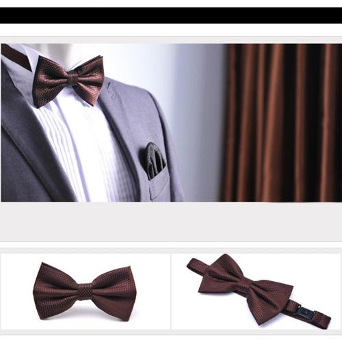 Fashion Mens Tuxedo Bowtie Solid Color Neckwear Adjustable Wedding Party Bow Tie Necktie Pre-Tied BrownApparel &amp; Jewelry<br>Fashion Mens Tuxedo Bowtie Solid Color Neckwear Adjustable Wedding Party Bow Tie Necktie Pre-Tied Brown<br>
