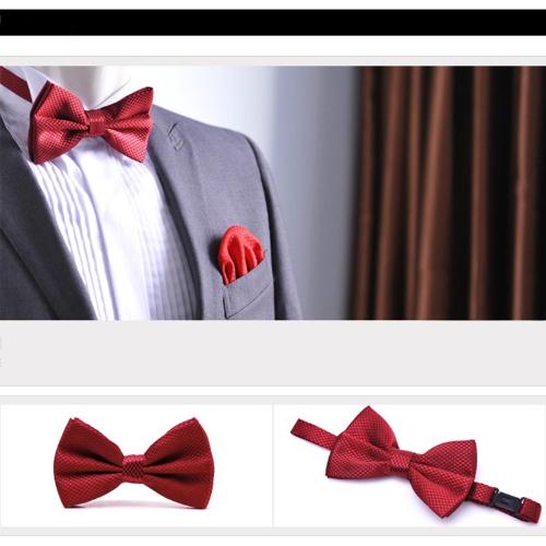 Fashion Mens Tuxedo Bowtie Solid Color Neckwear Adjustable Wedding Party Bow Tie Necktie Pre-Tied BurgundyApparel &amp; Jewelry<br>Fashion Mens Tuxedo Bowtie Solid Color Neckwear Adjustable Wedding Party Bow Tie Necktie Pre-Tied Burgundy<br>