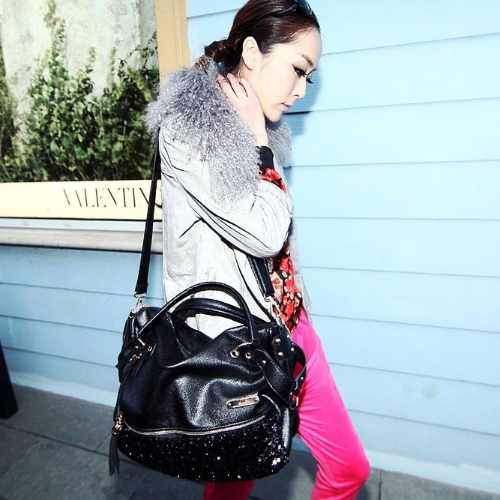 Fashion Women Leopard Sequin Paillette Bag Handbag Tote PU Shoulder Messenger BagApparel &amp; Jewelry<br>Fashion Women Leopard Sequin Paillette Bag Handbag Tote PU Shoulder Messenger Bag<br>