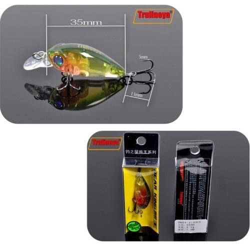 Trulinoya DW24 35mm 3.5g 1.2m Mini Crank Fishing Lure Hard Bait with BKK Hooks GreenSports &amp; Outdoor<br>Trulinoya DW24 35mm 3.5g 1.2m Mini Crank Fishing Lure Hard Bait with BKK Hooks Green<br>