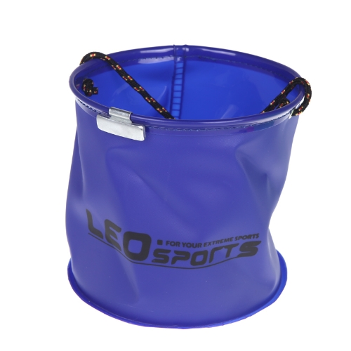 18*17cm Foldable EVA Water Bucket with Rope Belt Outdoor Fishing Tackle Camping BlueSports &amp; Outdoor<br>18*17cm Foldable EVA Water Bucket with Rope Belt Outdoor Fishing Tackle Camping Blue<br>